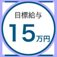 目標金額15万円