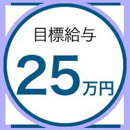 目標金額25万円
