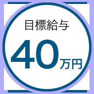 目標金額40万円